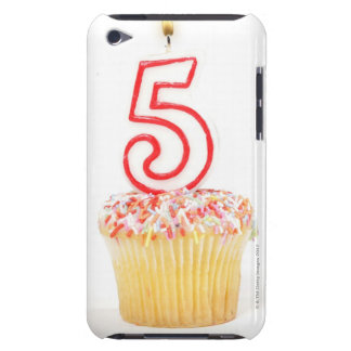 Cupcake with a numbered birthday candle 8 iPod touch covers