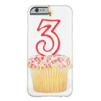 Cupcake with a numbered birthday candle 9 barely there iPhone 6 case