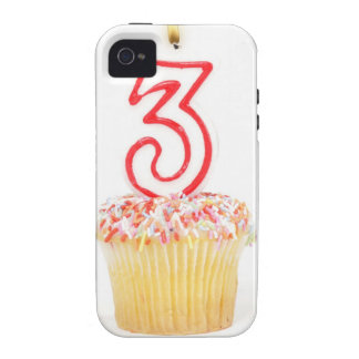 Cupcake with a numbered birthday candle 9 iPhone 4/4S case