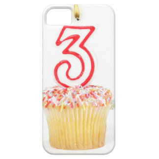 Cupcake with a numbered birthday candle 9 iPhone 5 cases