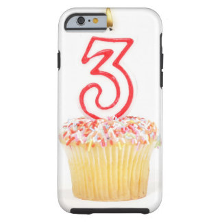Cupcake with a numbered birthday candle 9 tough iPhone 6 case
