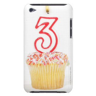 Cupcake with a numbered birthday candle 9 iPod touch covers