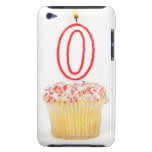 Cupcake with a numbered birthday candle barely there iPod cover