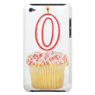 Cupcake with a numbered birthday candle Case-Mate iPod touch case