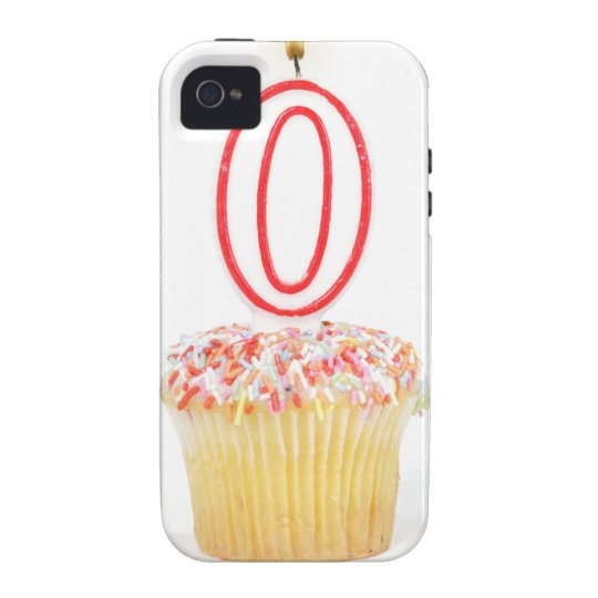 Cupcake with a numbered birthday candle vibe iPhone 4 case