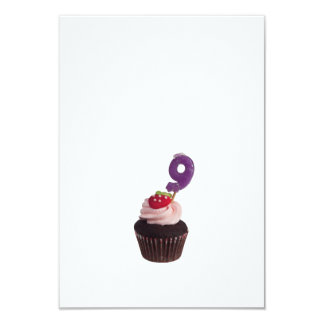 Cupcake with birthday candle for nine year old card