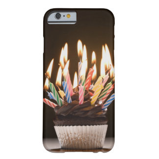 Cupcake with birthday candles barely there iPhone 6 case