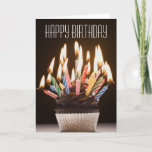 "Cupcake with Birthday Candles Birthday Card<br><div class=""desc"">Asset ID: 72884794 / Rubberball/Mike Kemp / Cupcake with birthday candles</div>"