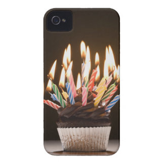 Cupcake with birthday candles iPhone 4 case