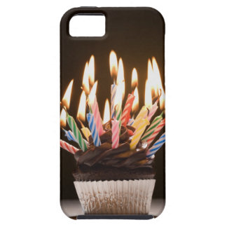 Cupcake with birthday candles iPhone SE/5/5s case