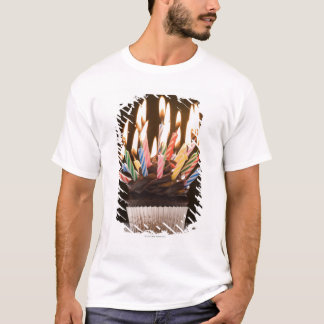 Cupcake with birthday candles T-Shirt