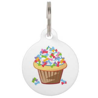 Cupcake With Bones Pet ID Tag