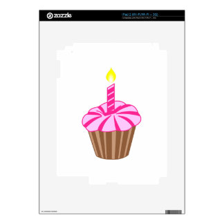 Cupcake with Candle Decals For iPad 2