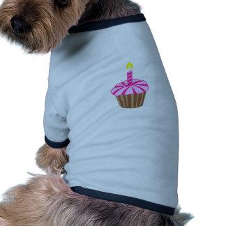 Cupcake with Candle Pet Shirt