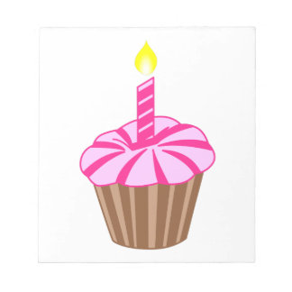 Cupcake with Candle Notepad