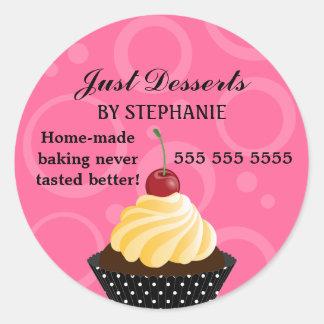 Cupcake with Cherry Bakery Classic Round Sticker