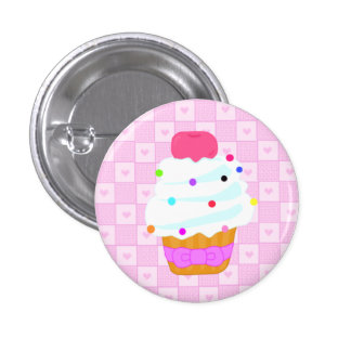 Cupcake with cherry! 1 inch round button