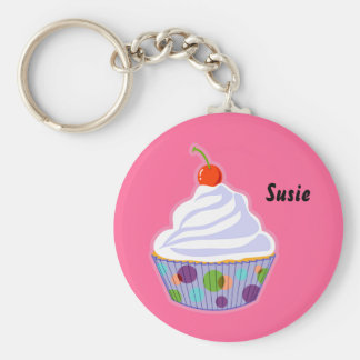 Cupcake with cherry key chains