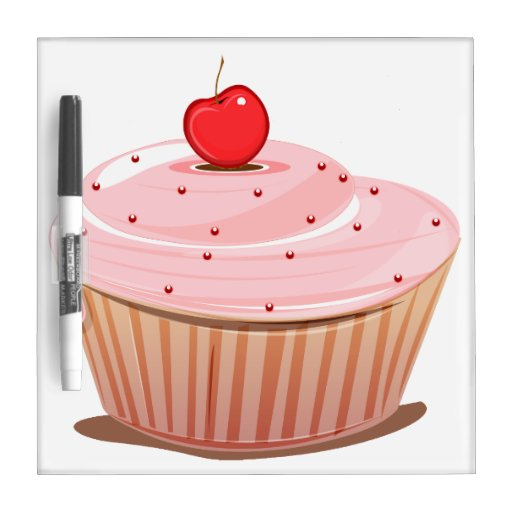 Cupcake with Cherry on Top Dry-Erase Boards