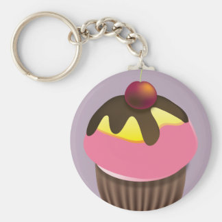 Cupcake with Cherry on Top Keychain