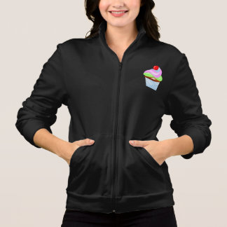 Cupcake With Cherry On Top Womens Jacket