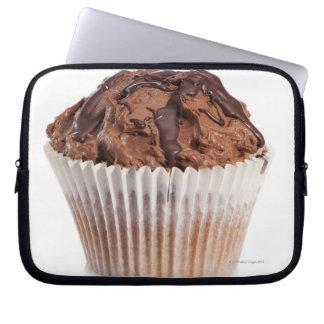 Cupcake with chocolate icing computer sleeve