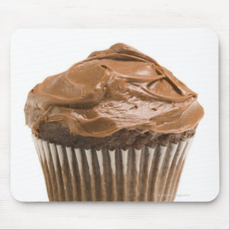 Cupcake with chocolate icing, studio shot mouse pad