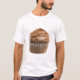 Cupcake with chocolate icing, studio shot T-Shirt