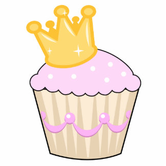 cupcake with crown photo cut out