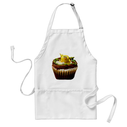 Cupcake with Duck Decoration Adult Apron