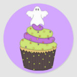 Cupcake with Ghost on Top Stickers