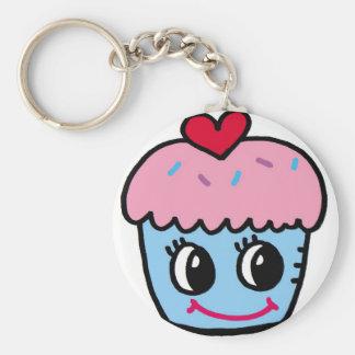 cupcake with heart keychain