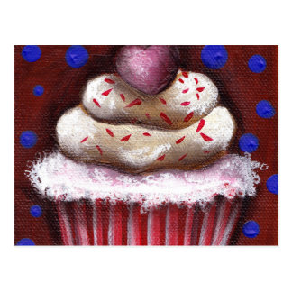 Cupcake with Heart Postcard
