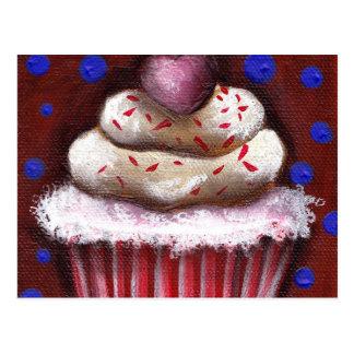 Cupcake with Heart Postcard