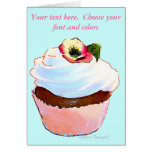 Cupcake with Pansy Art Design Card