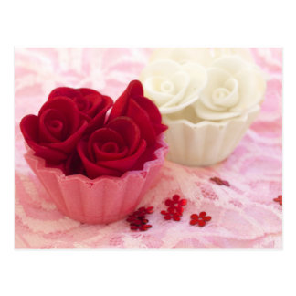 cupcake with roses postcard