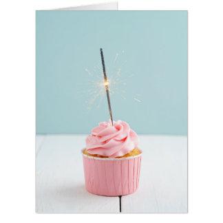 Cupcake with sparkler card