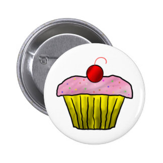 Cupcake with Sprinkles 2 Inch Round Button