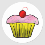 Cupcake with Sprinkles Classic Round Sticker