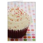Cupcake with sprinkles greeting card