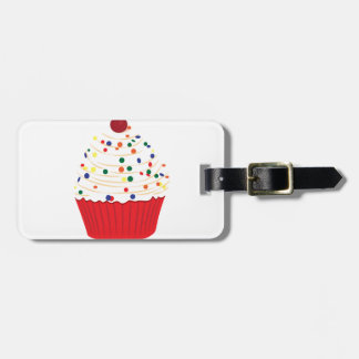 Cupcake With Sprinkles Tag For Luggage