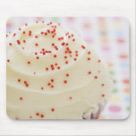 Cupcake with sprinkles mouse pads