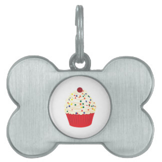 Cupcake With Sprinkles Pet ID Tag