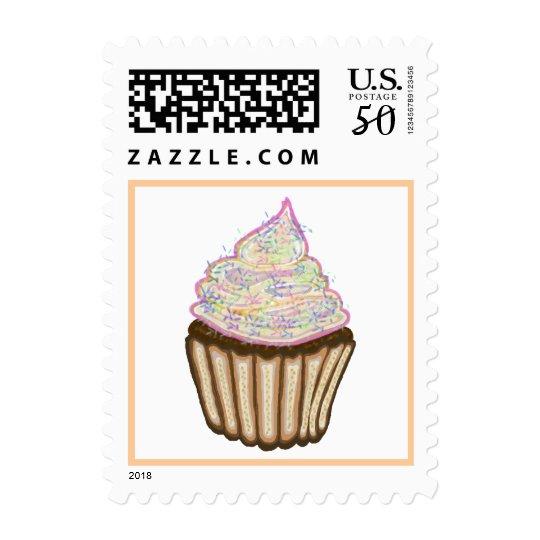 Cupcake With Sprinkles Postage