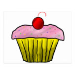 Cupcake with Sprinkles Postcard