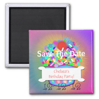 Cupcake With Sprinkles Save The Date Magnet