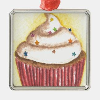 Cupcake with Star Sprinkles Ornament