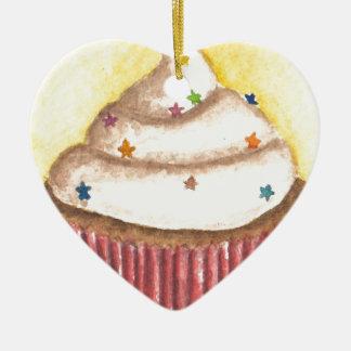 Cupcake with Star Sprinkles Christmas Tree Ornament
