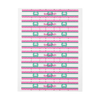 Cupcake wrap-around labels