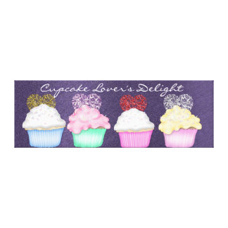 Cupcake  WRAP CANVAS Stretched Canvas Print